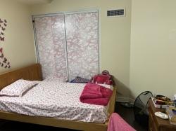 Master bedroom in a 1+1 condo